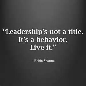 leadership not a title