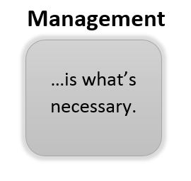 management-is-what-is-necessary