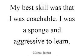 michael jordan on being coachable