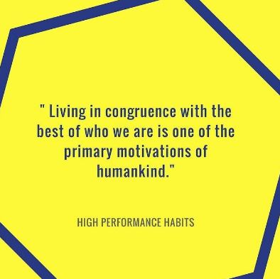 high performance habit quote