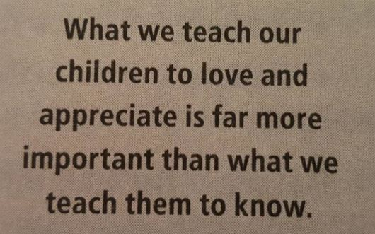 what we teach our children